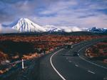 Ngauruhoe and Ruapehu volcanoes, New Zealand, Volcano photo