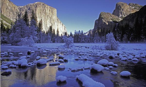 Yosemite National Park In Winter California United